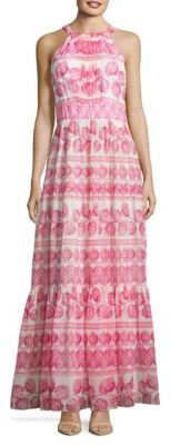 Eliza J Chiffon Printed Flare Gown $158 thestylecure.com