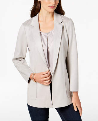 Charter Club Petite Faux-Suede Blazer, Created for Macy's