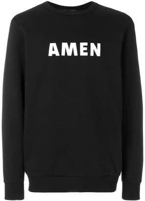 Amen logoed jumper