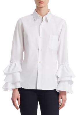 Comme des Garcons Ruffle Cuff Button-Front Shirt