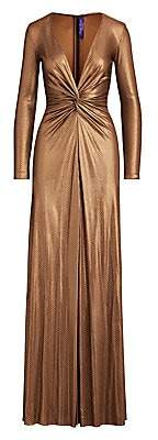 Ralph Lauren Women's Stellan Embellished Metallic Deep-V Gown