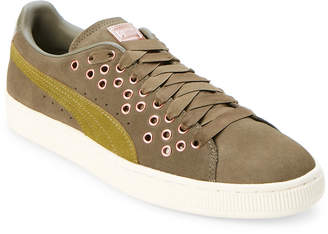 Puma Olive Night & Avocado Suede XL VR Low Top Sneakers