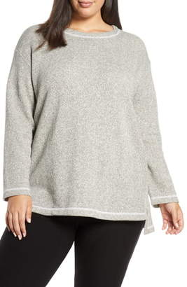 Eileen Fisher Organic Cotton Boucle Top