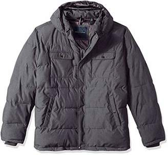 Tommy Hilfiger Men's Big and Tall Nylon Two Pocket Hooded Puffer Jacket