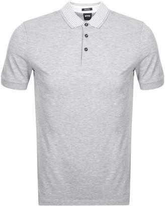 HUGO BOSS Prout 07 Polo T Shirt Grey