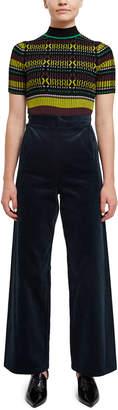 Toga Pulla Natural Marine Wide Leg Corduroy Pants