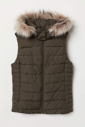 H&M Padded Vest with Hood - Green