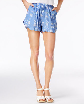American Rag Flora Printed Ruffle-Trim Soft Shorts, Only at Macy's $39.50 thestylecure.com