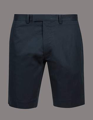 Marks and Spencer Cotton Chino Shorts with Stretch