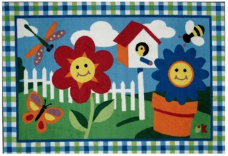 Fun Rugs Olive Kids Happy Flowers Rug - 3'3'' x 4'10''
