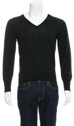 Alexander McQueen Wool V-Neck Sweater