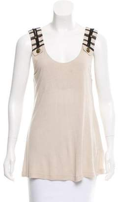 Mayle Lace-Trimmed Sleeveless Top