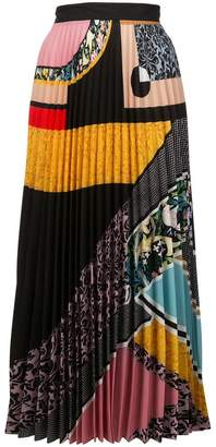 Mary Katrantzou multi-print pleated skirt