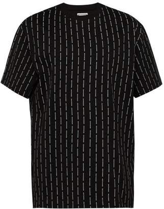 Wooyoungmi Logo Print Cotton T Shirt - Mens - Black