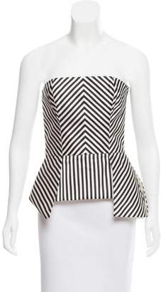 Sass & Bide Strapless Satin Top