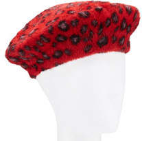 Collection XIIX Leopard-Print Faux Fur Beret