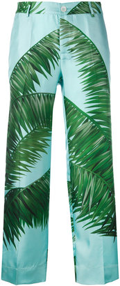 F.R.S For Restless Sleepers palm print loose fit trousers