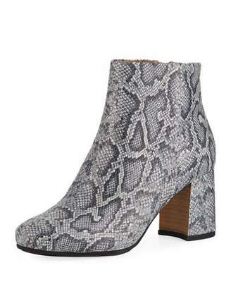 Gentle Souls Troy Printed Leather Block-Heel Booties