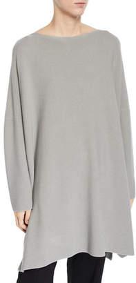 eskandar Cotton Slim-Sleeve Square Top