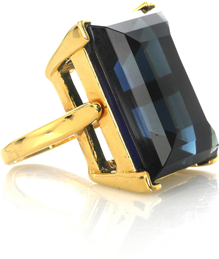 Kenneth Jay Lane Large gem ring