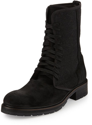 John Varvatos Star G Open Lace-Up Boot, Black $289 thestylecure.com