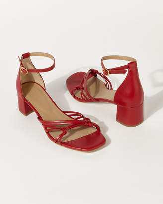 f8ab7aca657cf Red Strappy Sandals - ShopStyle UK