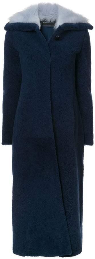 Brandon Maxwell long shearling coat