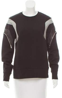 Tim Coppens Leather-Accented Sweatshirt