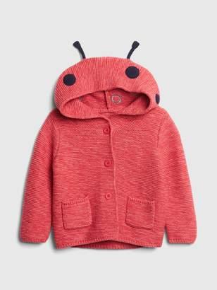 Gap Baby Brannan Bear Garter Ladybug Sweater