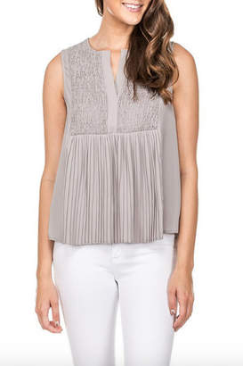 Jade Smock and Pleat Top