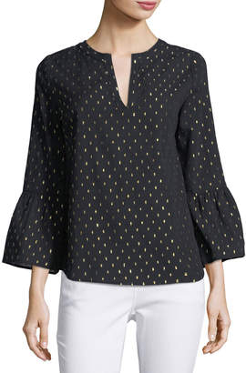 Collective Concepts Bell-Sleeve V-Neck Blouse
