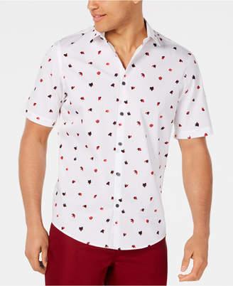 Alfani Men Classic-Fit Fanbrush-Print Shirt