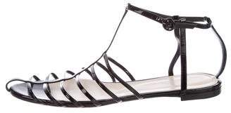 Nina Ricci Patent Leather Cage Sandals