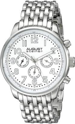 August Steiner Men's AS8147SSW Analog Display Swiss Quartz Silver Watch