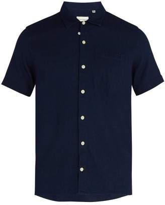 Oliver Spencer - Hawaiian Short Sleeved Cotton Shirt - Mens - Navy
