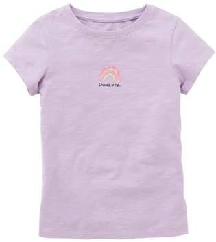 Next Girls Bright Pink Stripe Sequin T-Shirt (3-16yrs)