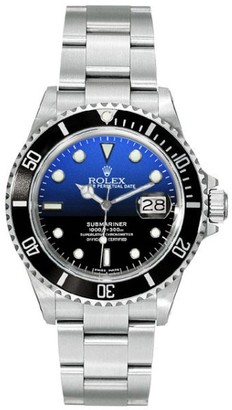 Rolex Submariner 16610 Steel Custom DeepBlue Mens Watch $9,250 thestylecure.com