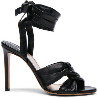Leather Zuni Heels in Black.