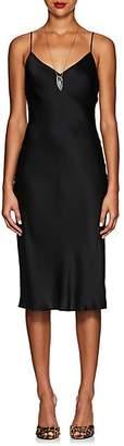 L'Agence Women's Jodie Silk Slipdress - Black