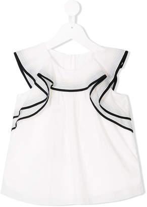 Chloé Kids frilled sailor blouse