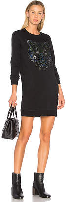 Kenzo Tiger Classic Sweatshirt Dress in Black $355 thestylecure.com
