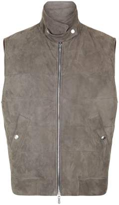 Brunello Cucinelli Reversible Suede Padded Gilet