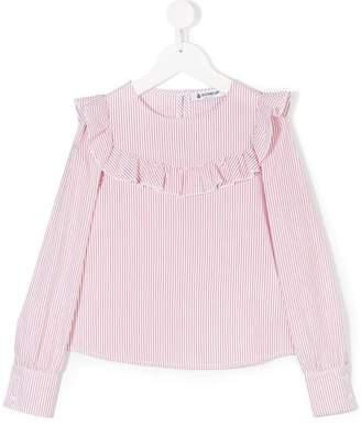Dondup Kids striped ruffled blouse