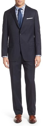 Men's Hart Schaffner Marx New York Classic Fit Stripe Wool Suit $795 thestylecure.com