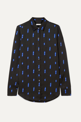 Equipment Essential Printed Satin Shirt - Black