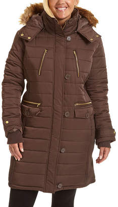 Excelled Leather Heavyweight Puffer Jacket-Plus