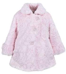 Little Girl's American Widgeon Shaggy Faux Fur Coat