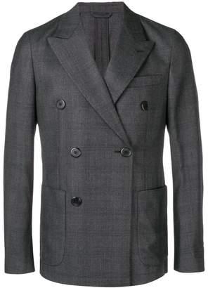 Prada double-breasted check blazer