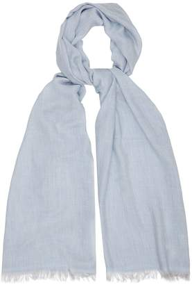 Reiss Our last order date for Christmas has now passed ALLIUM LIGHTWEIGHT SUMMER SCARF Blue