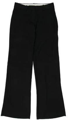 Theory Linen Low-Rise Wide-Leg Pants